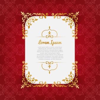Kastanjebruine achtergrond met gouden ornamenten
