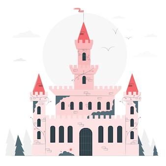 Kasteel concept illustratie