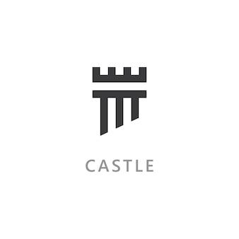 Kasteel vector logo pictogram sjabloon vector design