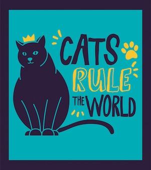Kat beheerst de wereld