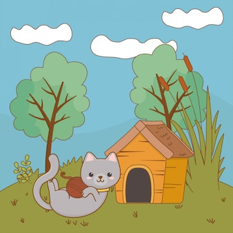 Kat cartoon illustraties illustratie