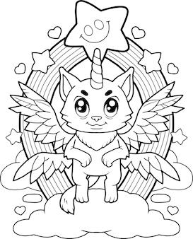 Kat eenhoorn