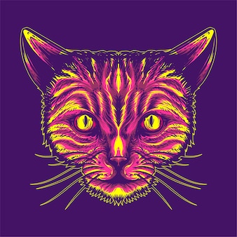 Kat gezicht illustratie