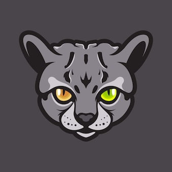 Kat hoofd illustratie