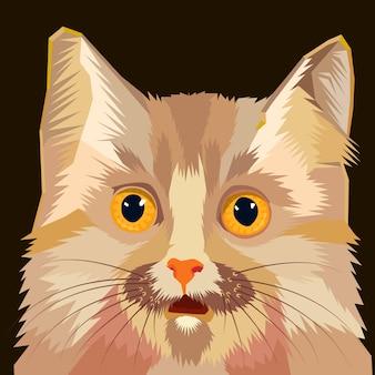 Kat hoofd vectorillustratie