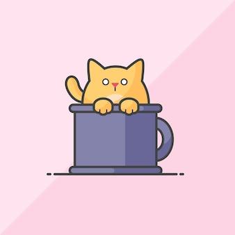 Kat in de beker
