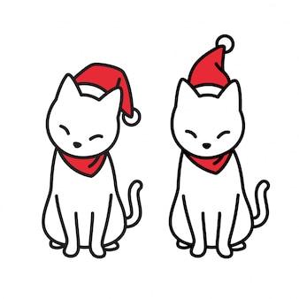 Kat kitten kerstmis santa claus