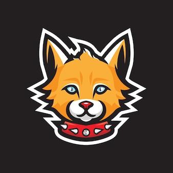 Kat mascotte logo ontwerp