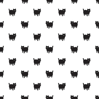 Kat naadloos patroon kitten calico cartoon