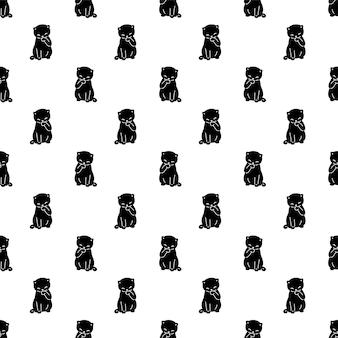 Kat naadloos patroon kitten calico