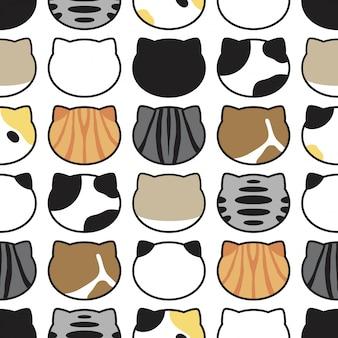 Kat naadloze patroon kitten huisdier illustratie