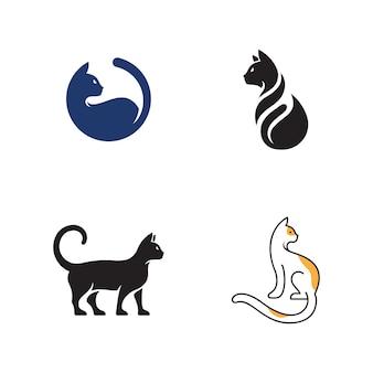 Kat pictogram ontwerp vector illustratie ontwerpsjabloon