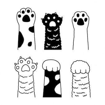 Kat poot voetafdruk kitten