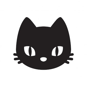 Kat vector hoofd kitten cartoon