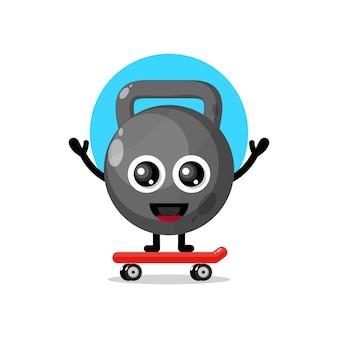 Kate bal skateboarden schattig karakter mascotte