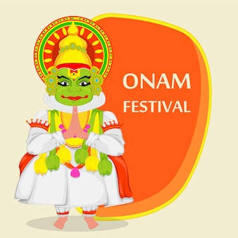Kathakali-danser. happy onam