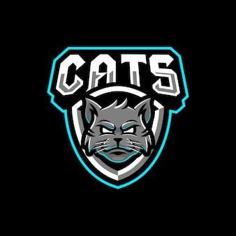 Katten mascotte logo ontwerp