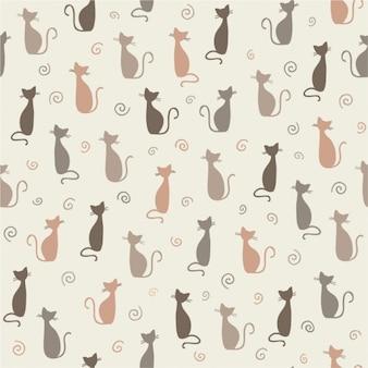 Katten patroon ontwerp