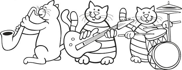 Kattenband voor kleurboek
