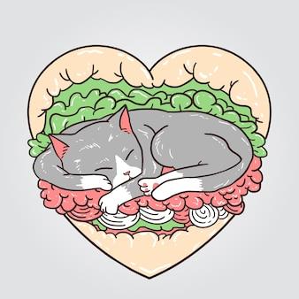 Kattenburger Premium Vector