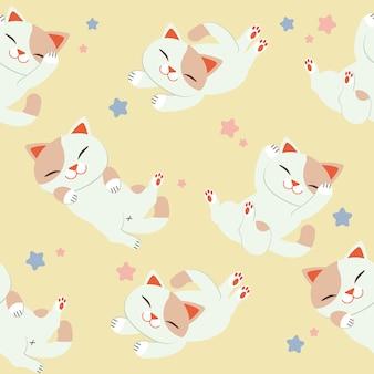 Kattenpatroon vastgestelde achtergrond