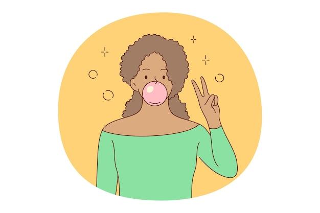 Kauwen bubblegum concept