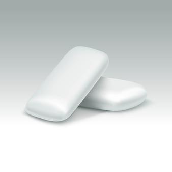Kauwgom op witte achtergrond