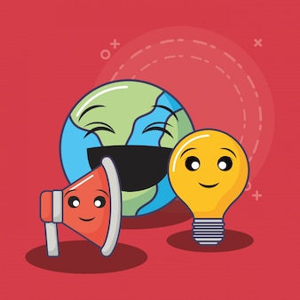 Kawaii aarde planeet