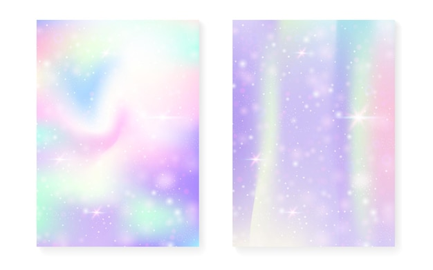 Kawaii achtergrond met regenboog prinses verloop.