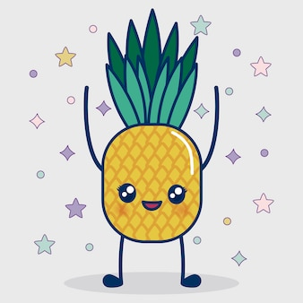 Kawaii ananas pictogram