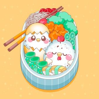 Kawaii bento aziatische japanse lunchbox
