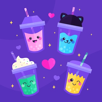 Kawaii bubble tea-collectie