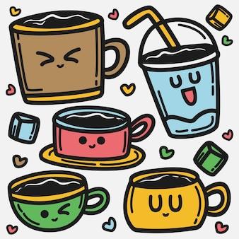 Kawaii cartoon drankje doodle illustratie
