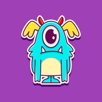 Kawaii cartoon monster doodle ontwerp