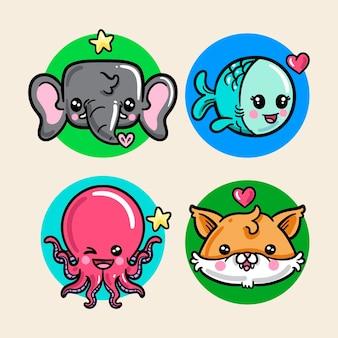 Kawaii dieren / huisdieren collectie