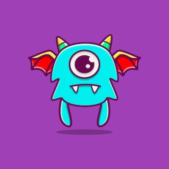 Kawaii doodle monster cartoon afbeelding