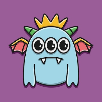 Kawaii doodle monster karakter illustratie