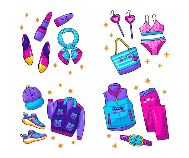 Kawaii kleding en accessoires stickers