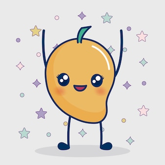 Kawaii mango pictogram