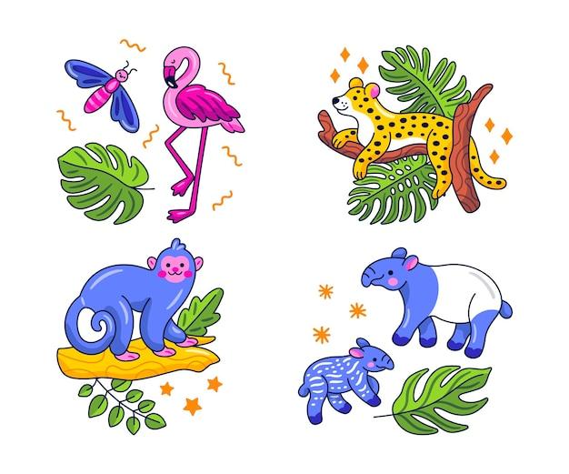 Kawaii natuur stickercollectie