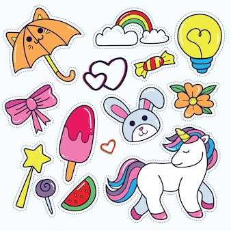 Kawaii sticker set