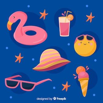 Kawaii stijl zomer element collectie