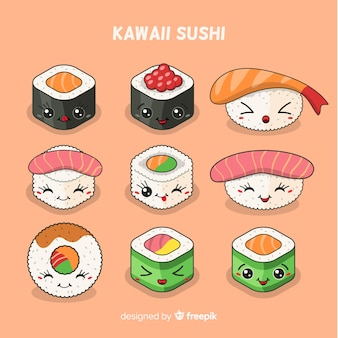 Kawaii sushi-collectie