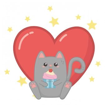 Kawaii van kat cartoon