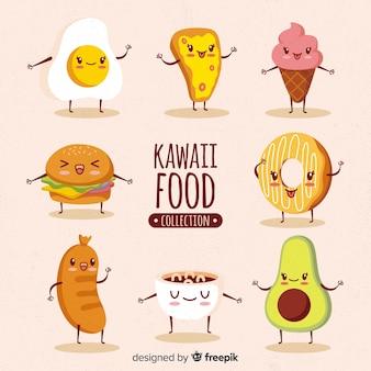 Kawaii voedsel hand getrokken collectie