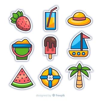 Kawaii zomer sticker collectie