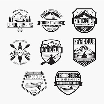 Kayak canoe badges