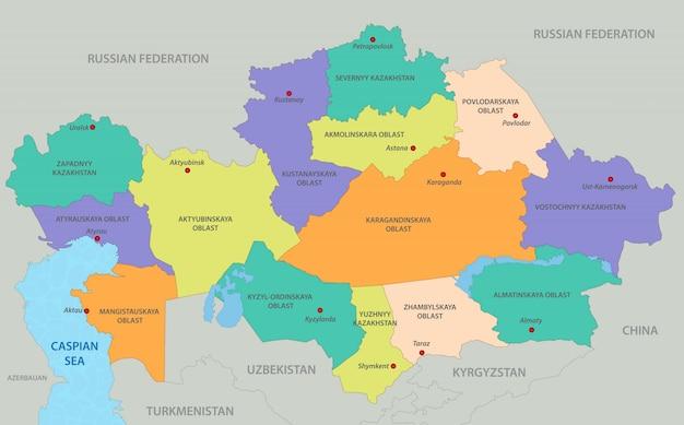 Kazachstan kaart