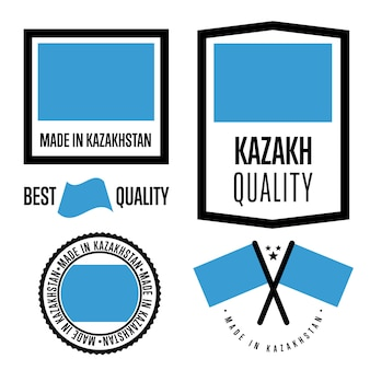 Kazachstan kwaliteitslabel set