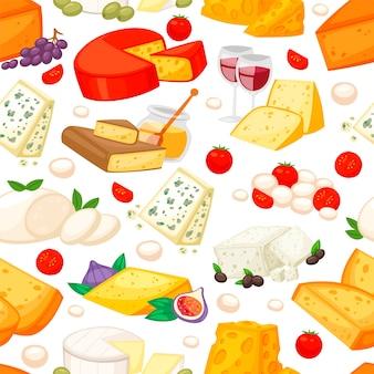 Kazen met edam maasdam parmezaanse kaas en dorblue